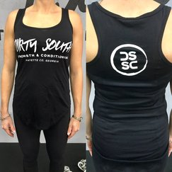 Women's Circle Tank (Black/White)