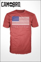 Red US Flag T-Shirts- Men's