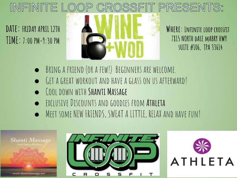 INFINITE LOOP CROSSFIT WOD N' WINE!
