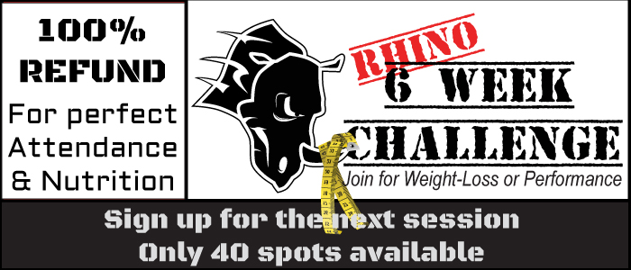 Rhino 6 Week Challenge 5/7 at 6:00pm