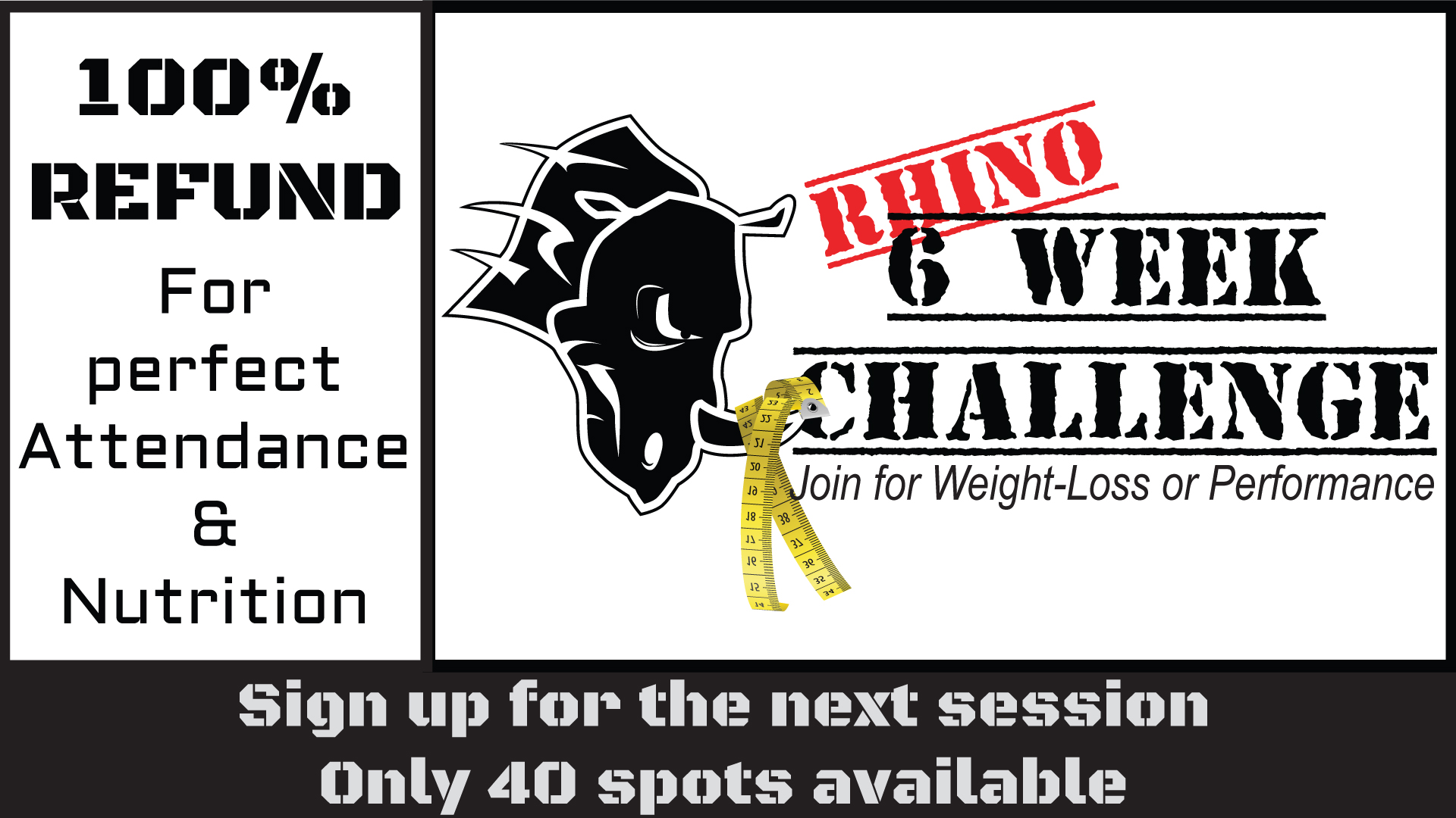Rhino 6 Week Challenge July 10th, 2018 at 6pm