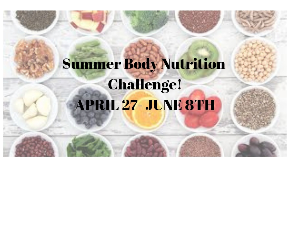 EaDo Fitness- Summer Body Nutrition Challenge!