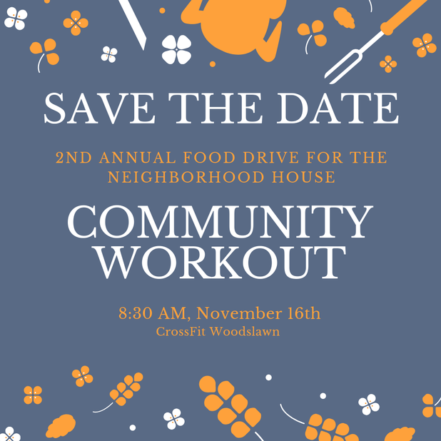 2nd Annual Community workout food drive