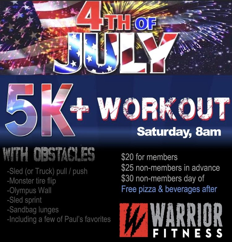 4th of July 5k - Patriot Workout